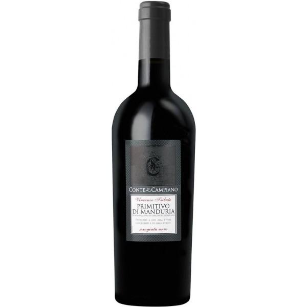 """Вино """"Conte di Campiano"""" Primitivo di Manduria DOC, 2015, 0.75 л"""